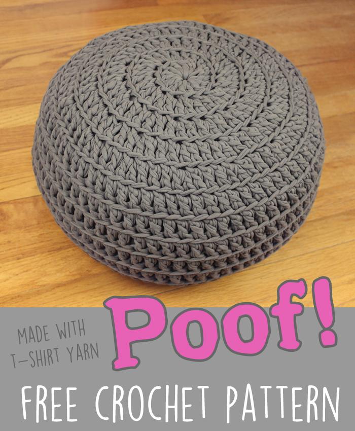Floor pillow pouf ottoman free crochet pattern - Crochet pouf ottoman pattern free ...