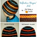 """Reflective Stripes"" Hat for Children and Adults ~ My Hobby is Crochet"