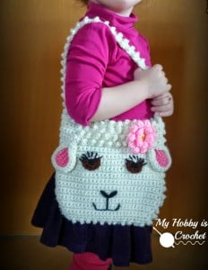 Darling Sheep Crochet Purse ~ My Hobby is Crochet