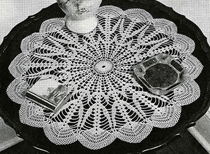 Northern Lights Doily Free Crochet Pattern