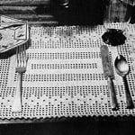 Flower Filet Luncheon Set ~ Free Vintage Crochet