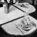 Half Moon Luncheon Set ~ Free Vintage Crochet