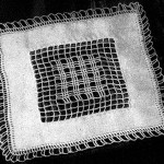Square Doily with Crochet Inset ~ Free Vintage Crochet