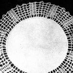 Doily with Two Colored Mesh Edging ~ Free Vintage Crochet