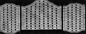 Mosaic Antimacassar Set ~ Free Vintage Crochet