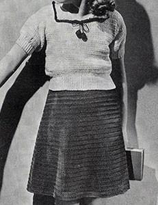 Sailor Suit Dress ~ Free Vintage Crochet