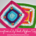 Springtime Lily Pond Afghan Square ~ The Stitchin' Mommy