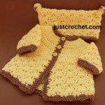 Newborn Coat and Hat Set ~ JustCrochet