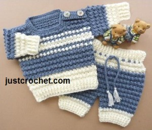 Boys Sweater and Pants ~ JustCrochet