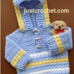 Hoodie with Toggle Buttons ~ JustCrochet