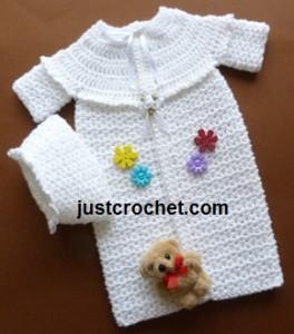 Preemie Sleepsuit & Hat ~ JustCrochet
