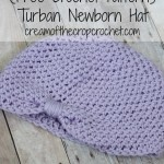 Turban Newborn Hat ~ Cream Of The Crop Crochet