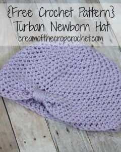 Turban Newborn Hat ~ Cream Of The Crop Crochet