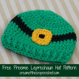 Preemie Leprechaun Hat ~ Cream Of The Crop Crochet