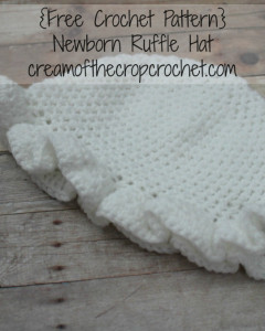 Newborn Ruffle Hat ~ Cream Of The Crop Crochet