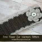 Flower Ear Warmers ~ Cream Of The Crop Crochet