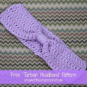 Turban Headband ~ Cream Of The Crop Crochet