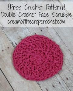 Double Crochet Face Scrubbie ~ Cream Of The Crop Crochet