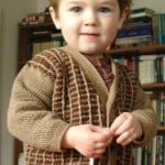 Young Gentleman Two-Tone Cardigan ~ ABC Knitting Patterns