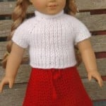 American Girl Doll Real Easy V-Stitch Skirt ~ ABC Knitting Patterns