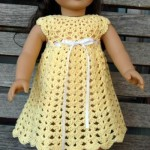 American Girl Doll Seashell Summer Dress ~ ABC Knitting Patterns