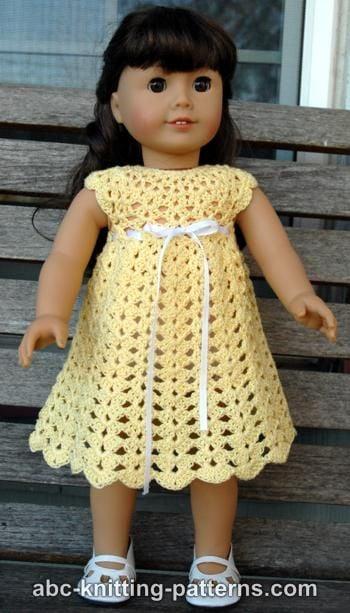 American Girl Doll Seashell Summer Dress Free Crochet