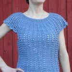 Scalloped Summer Top ~ ABC Knitting Patterns
