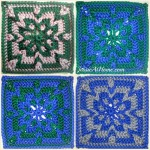 Jacob's Square ~ 6″ Afghan Square ~ Jessie At Home