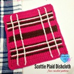 Scottie Plaid Dishcloth ~ Erangi Udeshika - Crochet For You