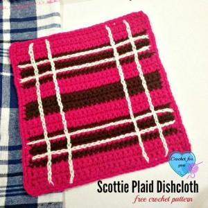 Scottie Plaid Dishcloth ~ Erangi Udeshika - Crochet For You