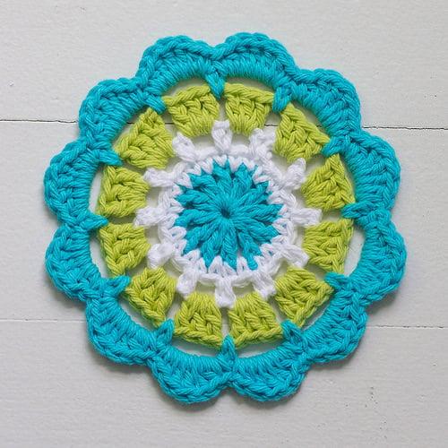 Abstract Flower Motif No. 4 ~ FREE Crochet Pattern