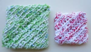 Recycled Plastic Diagonal Scrubbies ~ My Recycled Bags
