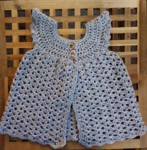 Toddlerized Crochet Angel Wings Pinafore ~ The Anarchist Knitter