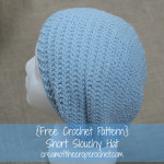 Short Slouchy Hat ~ Cream Of The Crop Crochet