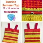 Baby Sunrise Summer Top ~ Erangi Udeshika - Crochet For You