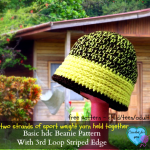 Basic Hdc Beanie With 3rd Loop Striped Edge ~ Erangi Udeshika - Crochet For You