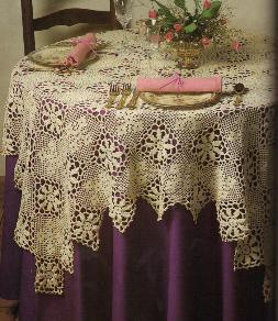 Antique Lace Tablecloth ~ MomsLoveOfCrochet.com