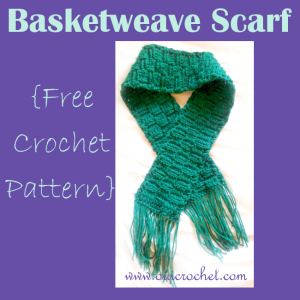 Basketweave Scarf ~ Oui Crochet