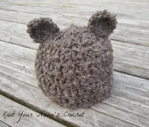 Basic Crochet Bear Beanie ~ Knot Your Nana's Crochet