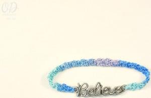 Believe Friendship Bracelet ~ Oombawka Design