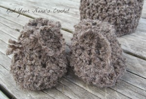 Basic Baby Crochet Booties ~ Knot Your Nana's Crochet