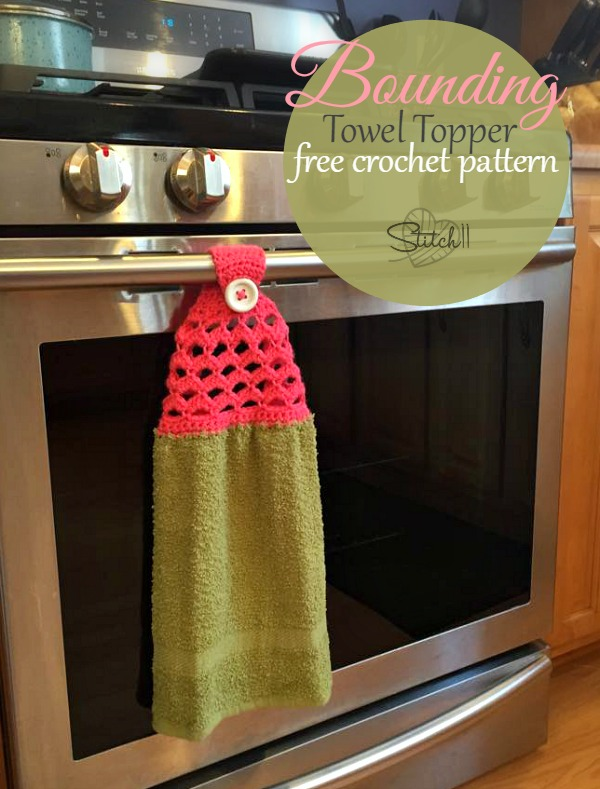 Bounding Towel Topper Free Crochet Pattern