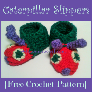 Caterpillar Baby Slippers ~ Oui Crochet