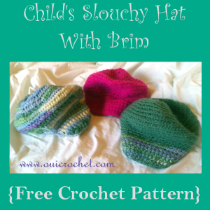 Child's Slouchy Hat With Brim ~ Oui crochet