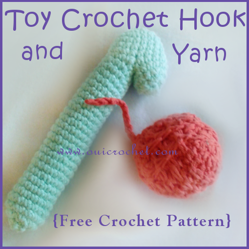 Toy Crochet Hook and Yarn ~ FREE Crochet Pattern