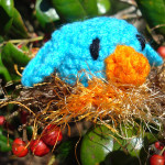Bitty Bird and Nest Amigurumi ~ NyanPon.com