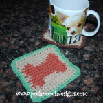 Dog Bone Coaster ~ Sara Sach - Posh Pooch Designs