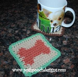 Dog Bone Coaster ~ Sara Sach - Posh Pooch Designs
