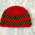 Crossed Texture Hat – 3 Months ~ Alli Crafts