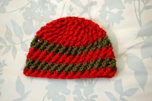 Crossed Texture Hat - 3 Months ~ Alli Crafts